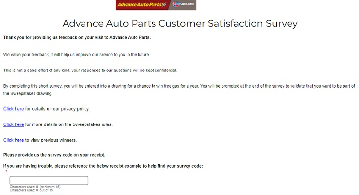 advance auto parts free gas for a year