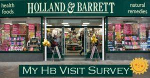 Holland & Barrett Survey