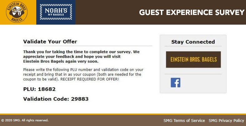 Bagel Experience Survey Code