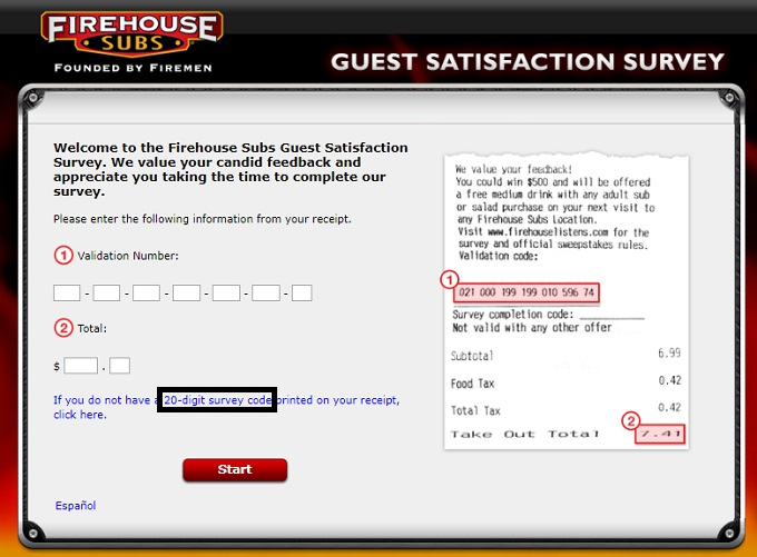 Firehouse Subs listens Guest Survey
