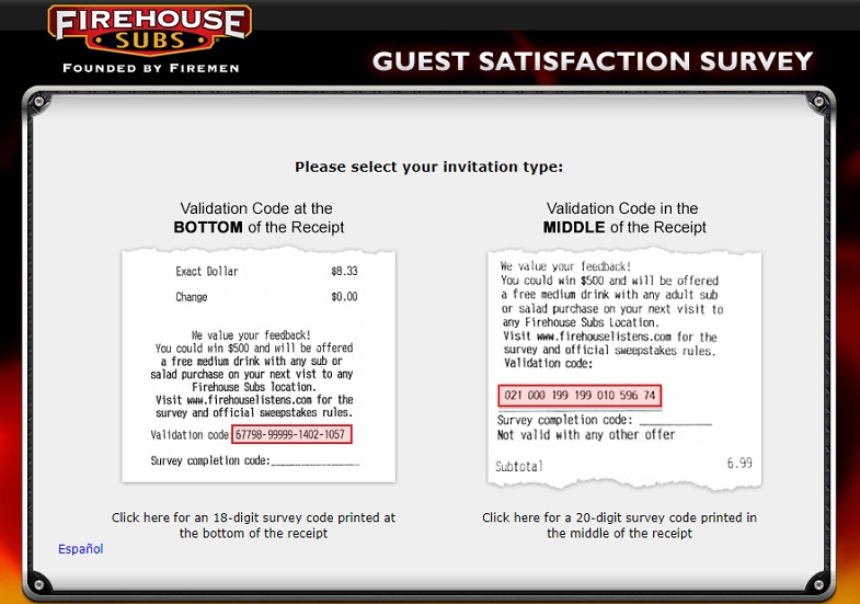 Firehouse Subs listens Survey