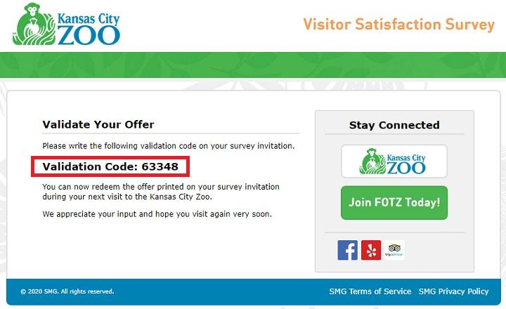 Kansas City Zoo Visitor Survey Code