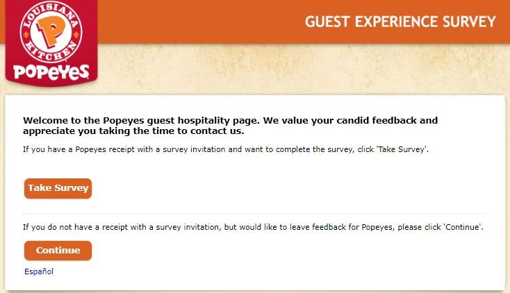 tellpopeyes Survey
