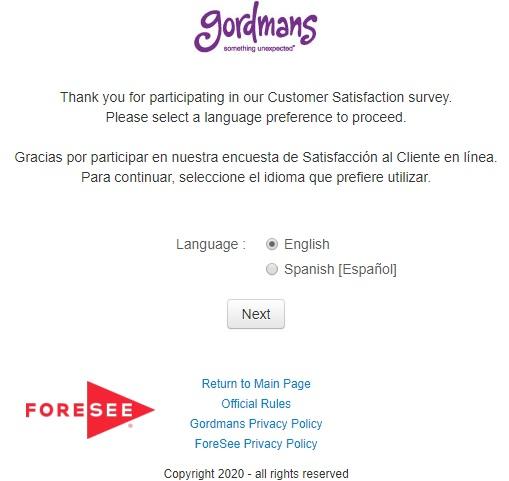 Gordmans Guest Survey