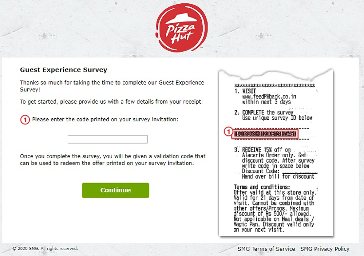 Pizza Hut Survery