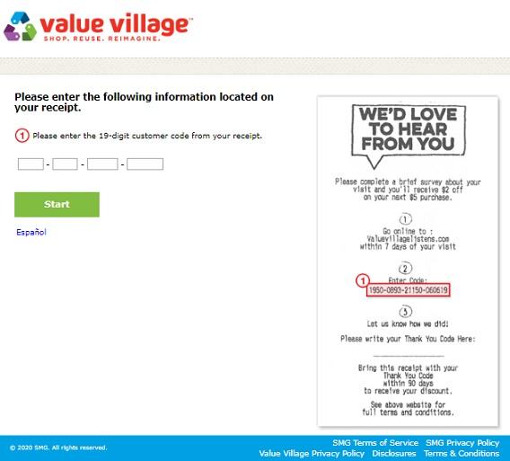 valuevillagelistens Survey