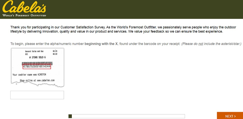 Cabela's Customer Satisfaction Survey