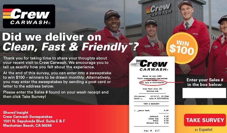 Crew Carwash Customer Survey