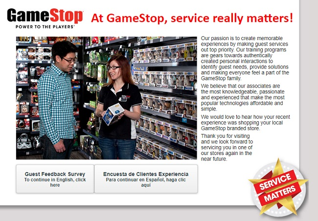 Game Stop Survey