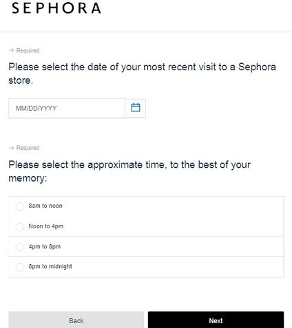 Sephora Guest Survey